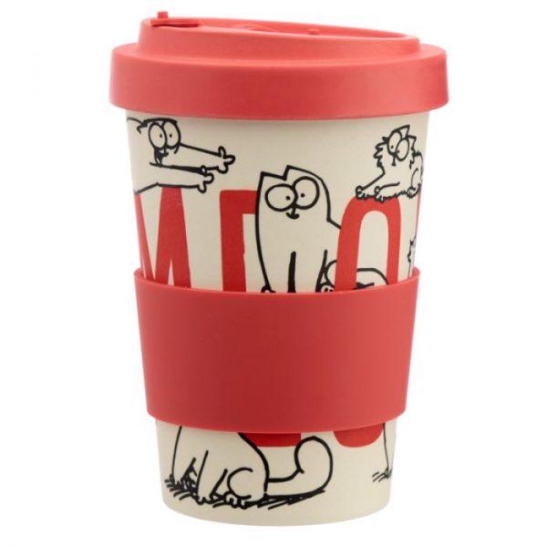 Simon's Cat Reusable Bamboo Travel Mug