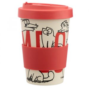 Simon's Cat Reusable Bamboo Travel Mug