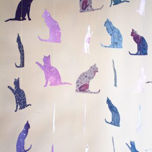 Cosmic Kitties Paper Garland - Various Designs