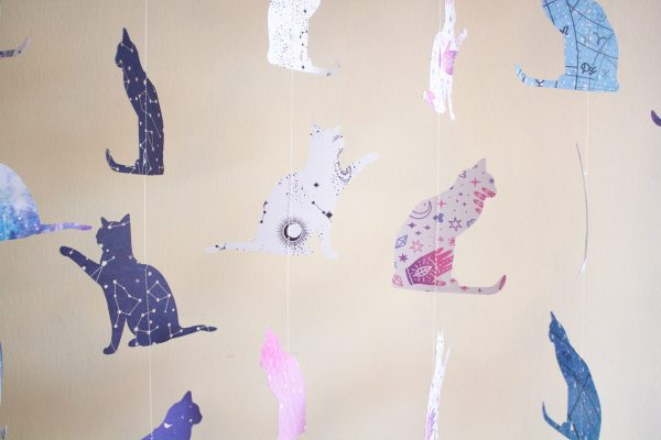 Cosmic Kitties Paper Garland - Various Designs