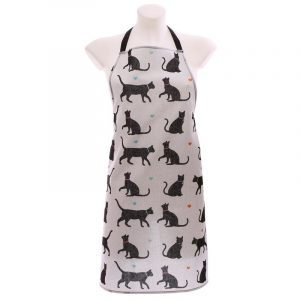 Poly Cotton Apron - I Love My Cat