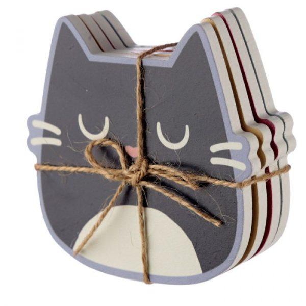 Feline Fine Cat Set of 4 Coasters