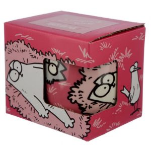 Pink Simon's Cat Porcelain Mug