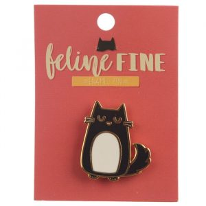 Feline Fine Cat Enamel Pin Badge