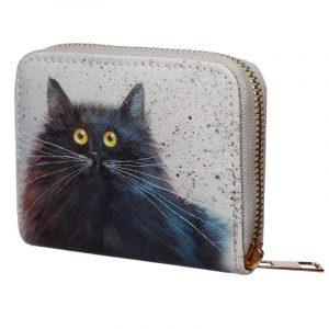 Kim Haskins Black Cat Small Wallet Purse
