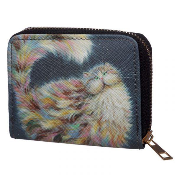Kim Haskins Rainbow Cat Small Wallet Purse